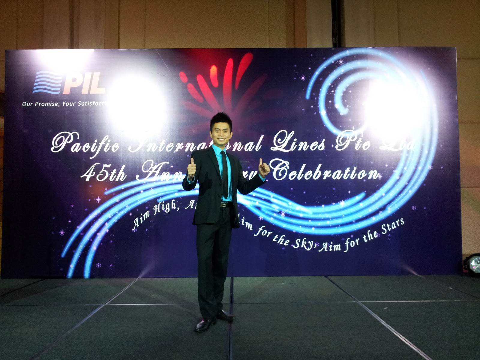 Emcee Richard Style: Pacific International Lines 45th Anniversary