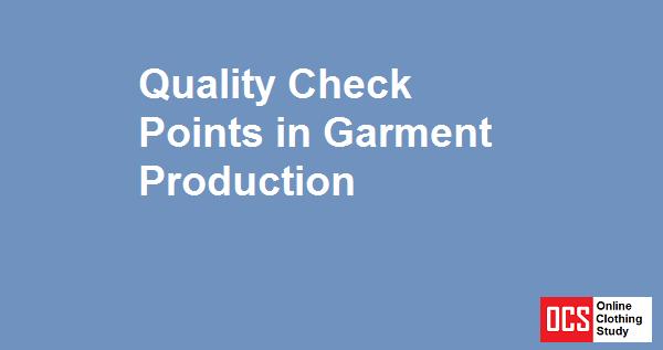 garment quality control report