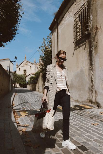 maxi blazer cuadros blog de moda barcelona