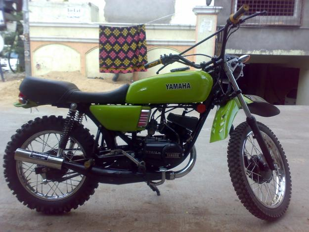 Modified rx 100 green - Modified Yamaha Bikes collection
