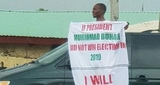 Buhari 2019: Wani matashi ya yi barazanar kashe kan sa idan Buhari na ci zabe ba