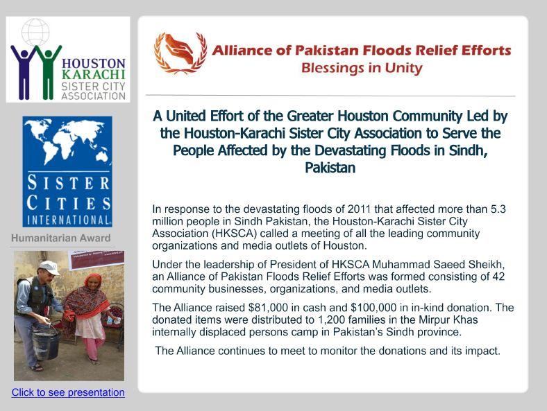 Hashoo Foundation USA: Houston-Karachi -Alliance Wins Sister