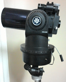 photograph of Meade ETX90 with external power cord
