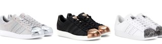 Ladies Superstar 80s Metal Toe and Metallic Leather Adidas Sale
