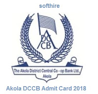 Akola DCCB Admit Card