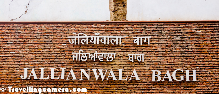 Not sure if you were able to make out anything out of the photograph shown above. This Photograph shows bullet marks on walls of Jallianwala bagh in Amritsar City of Punjab, India. The board in front has some details about Jallianwala Kand in Amritsar where lots of people were killed in this ground by British Army lead by Mr. Dier.