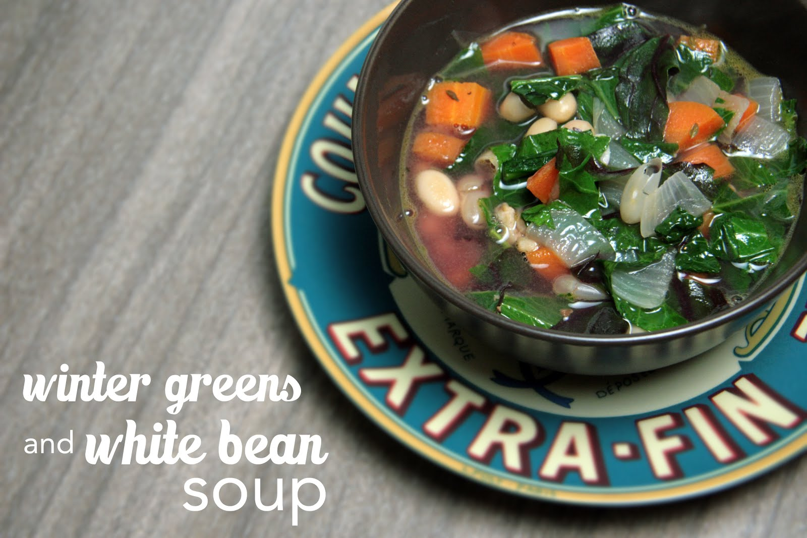 A simple version of Tuscan bean soup featuring bacon, veggies, cannellini beans in a savory broth.