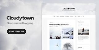 Template Cloudy Town – Clean Minimal Blog