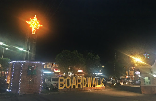 Boardwalk at Iloilo River Esplanade. Whenever you get hungry, stop by and have your fill at any of the restaurants there. The Boardwalk is near Diversion Road side of the River Esplanade.