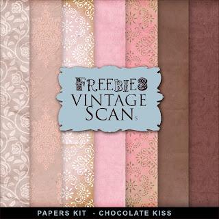 Freebies Background Kit - Сhocolate Kiss
