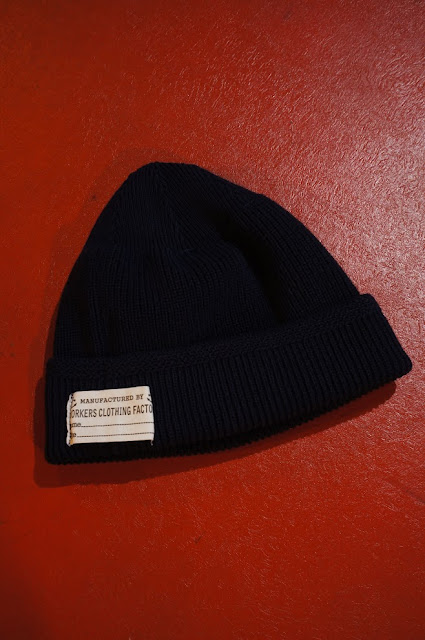 Workers Cotton Knit Cap Navy