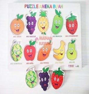Puzzle Buah Double (isi 2)