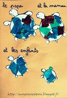 activité enfant 2-3 ans famille tortue