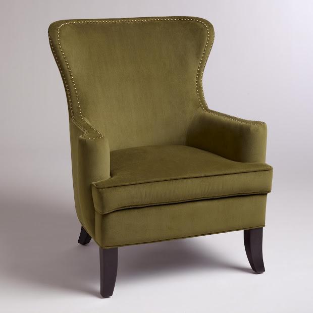 Gentil Caper Elliott Wingback Chair