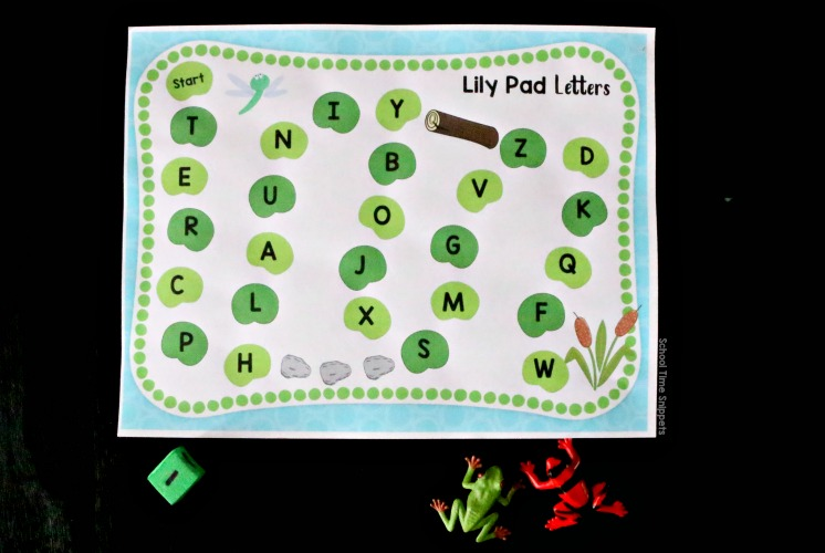 printable alphabet game board for preschool