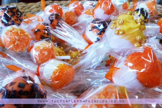 [Orange & Yellow 40th Birthday Party] Marshmallow Pops