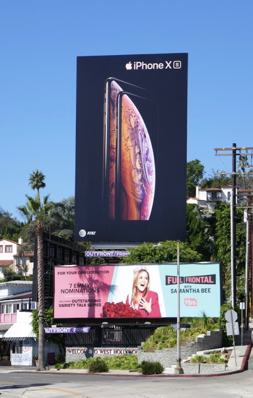 Apple iPhone XS billboard Sunset Strip