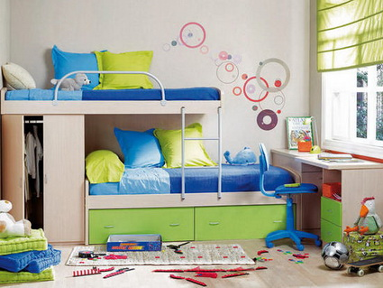 10 shared children's bedrooms with lots of color 3
