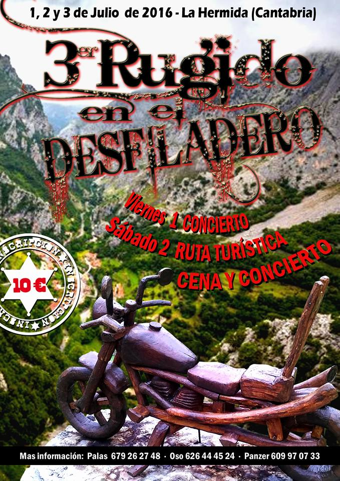 Concentración de motos 3er Rugido del Desfiladero en La Hermida