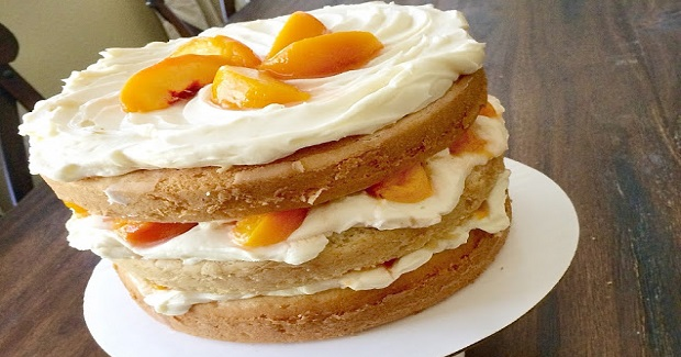 Grandma Ellie's Peaches And Cream Layer Cake Recipe