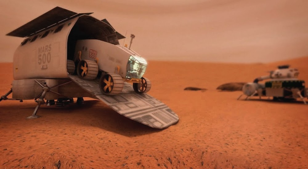Pressurised rover concept by ESA for Mars500