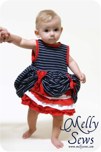 Fourth of July Baby Dress Tutorial - Melly Sews