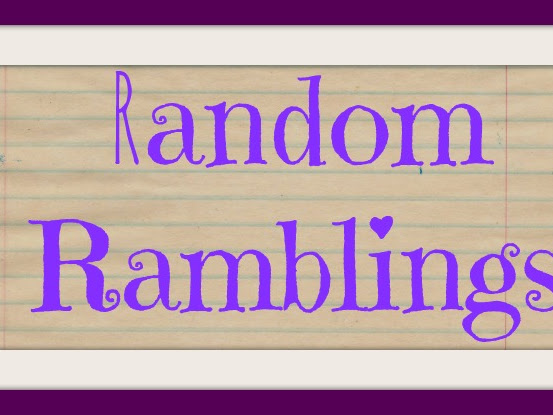 RANDOM RAMBLINGS - It's about time or the lack of it.....
