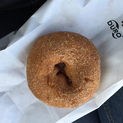 The best apple cider donut can be found at the Apple Hut in Beloit, Wisconsin.