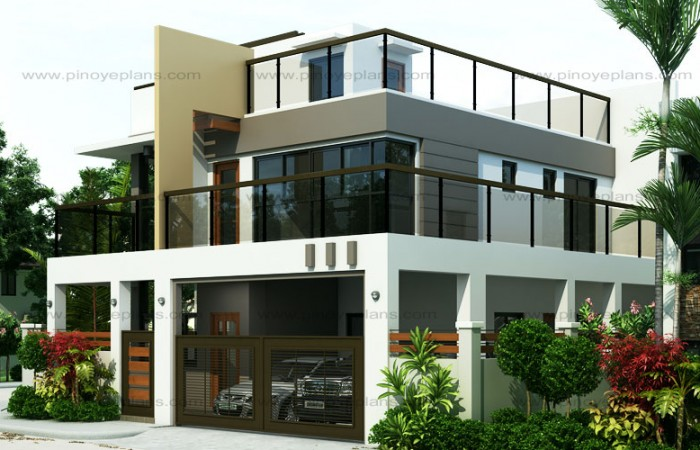 ESTER U2013 FOUR BEDROOM TWO STOREY MODERN HOUSE DESIGN (MHD 2015020)