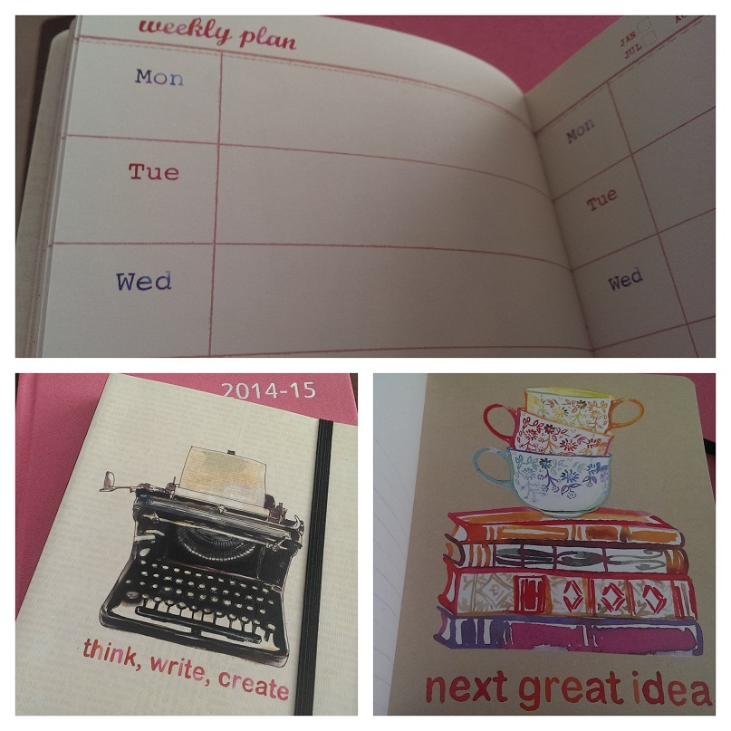 a diary and notebook from Tesco