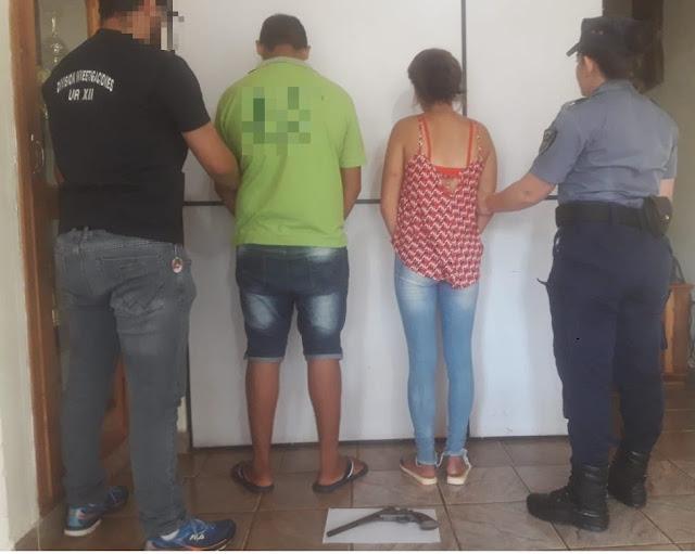 Ofrecían un arma en redes sociales y terminaron detenidos