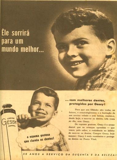 Campanha do Creme Dental Gessy que promove sua espuma gostosa que clareia os dentes