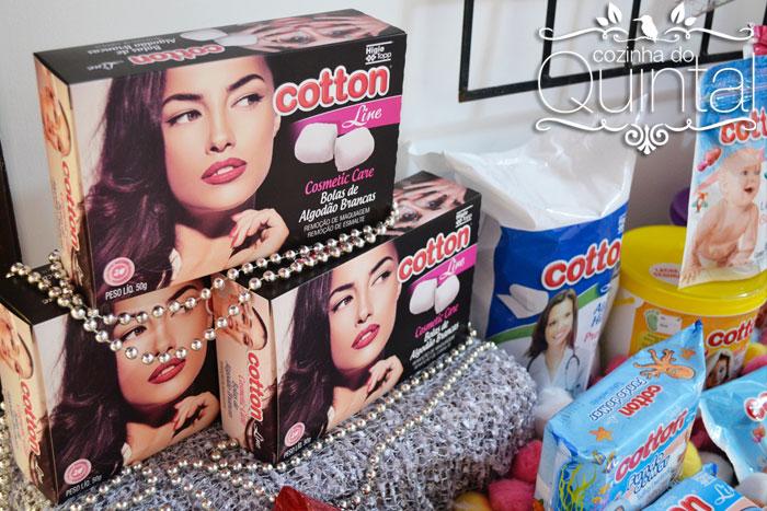 Caixa Decorada Cotton Line com Bolas de Algodão Brancas, um sucesso!
