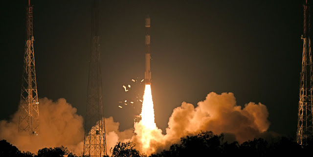 Image Attribute: RISAT-2B Successfully Launched by PSLV-C46, Satish Dhawan Space Centre (SDSC) SHAR, Sriharikota/ Date: May 22, 2019, Time: 0530 (IST) / Source: ISRO/PIB