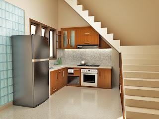 kitcen set dibawah tangga
