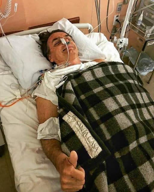 """""""Estou bem e me recuperando"""", diz Bolsonaro um dia depois de ser esfaqueado"""