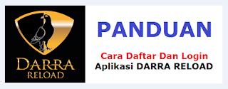 cara login Aplikasi Android Darra Reload