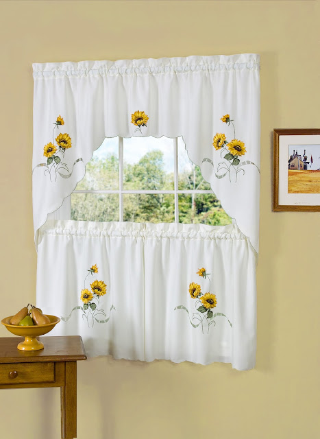 Sunflower Curtains For Kitchen ideas