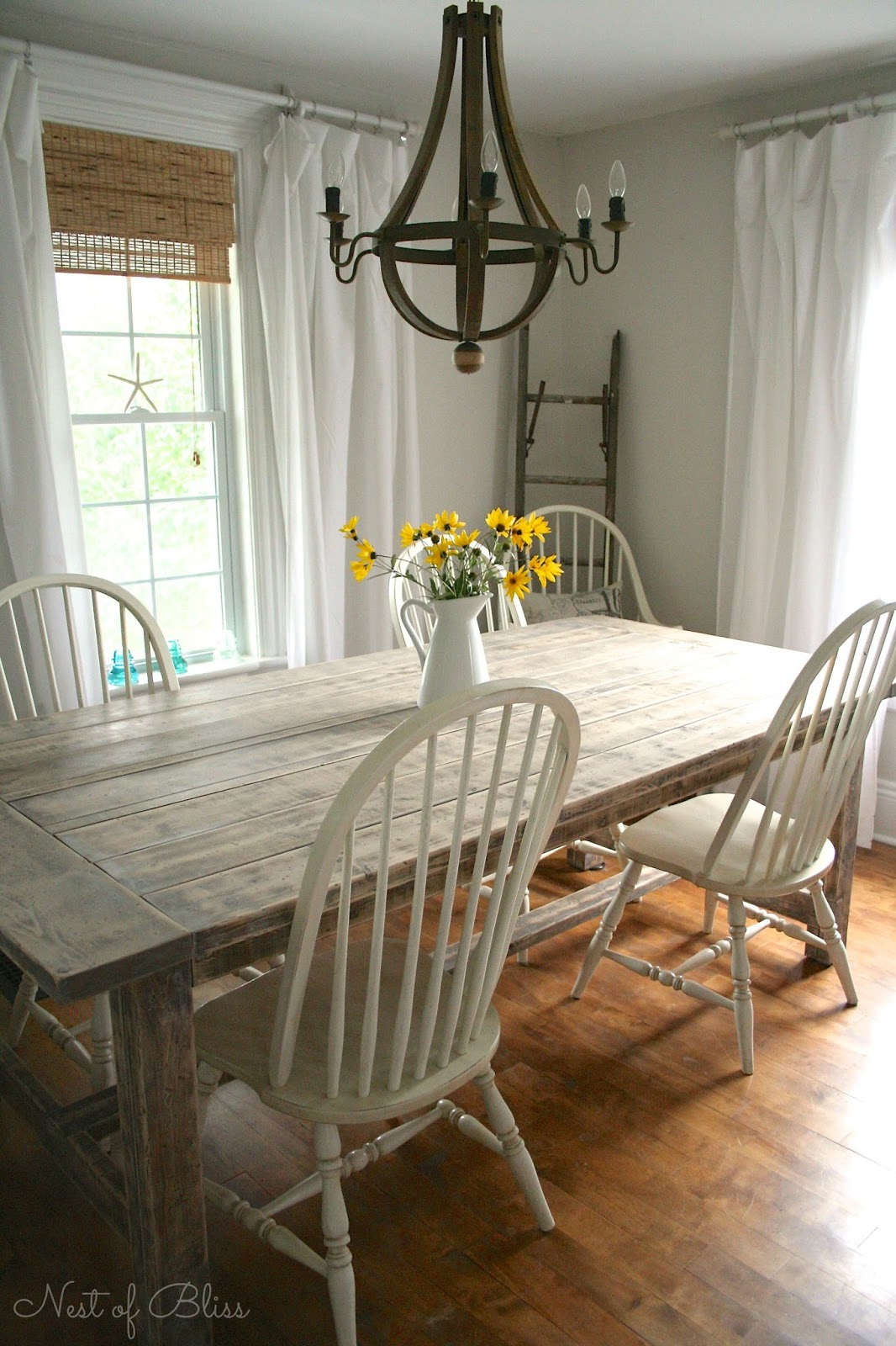 farm house chairs king louis chair farmhouse table makeover nest of bliss