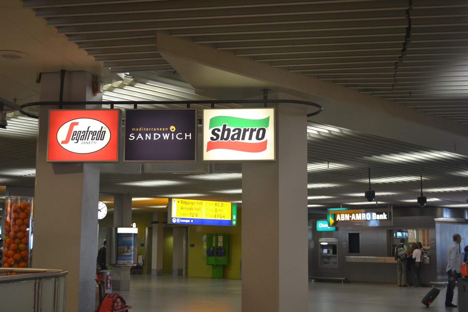 Signboards at Schipol Airport