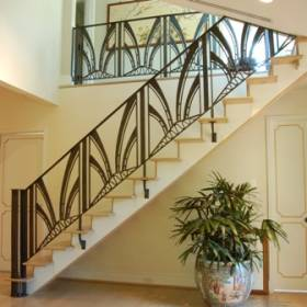 Marvelous Indoor Stairs Railing Grill Ideas.