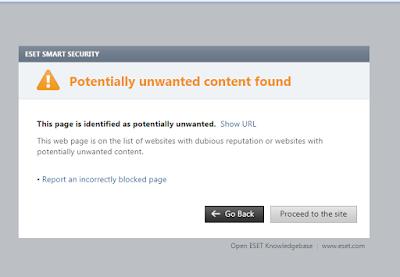 Fitur Terbaik Antivirus ESET dapat Memblokir Url Situs Web Berbahaya
