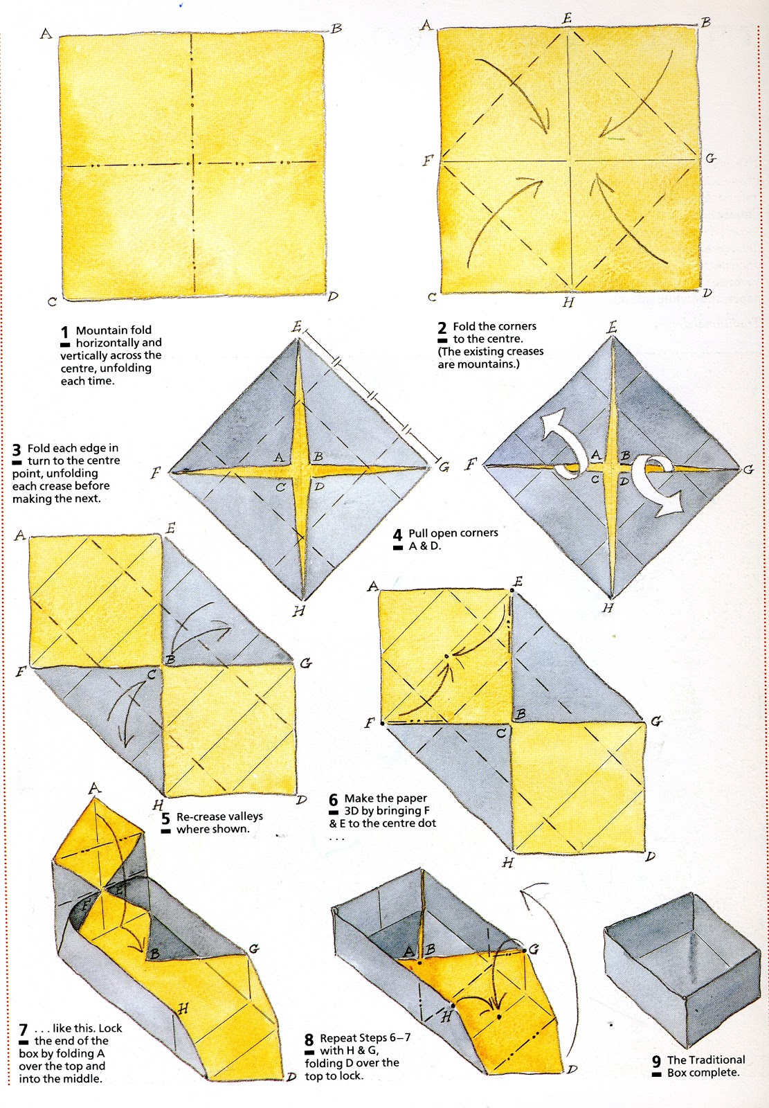 Folding Origami Box Diagram 2012 Harley Street Glide Wiring The Empty Oxo February 2013