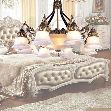 Những mẫu đèn chùm phòng ngủ đẹp nhất 2018