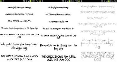Pencil Fonts - Cara Mengganti Font Android