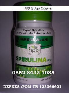Khasiat Manfaat kapsul SPIRULINA asli BPOM untuk kesehatan tubuh