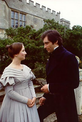 Timothy Dalton and his Jane in the 1983 Jane Eyre