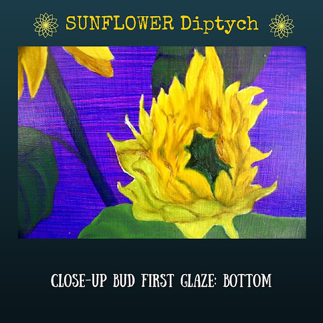 CLOSE UP First color glazed layer for BOTTOM Sunflower