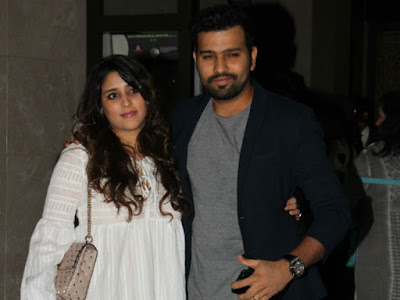 Rohit Sharma with wife in Zaheer Khan engagement