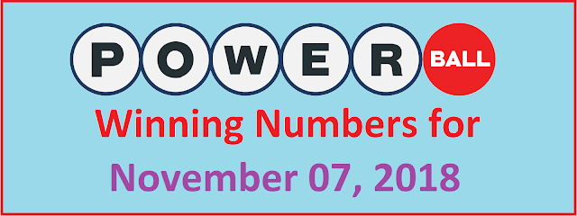 PowerBall Winning Numbers for Wednesday, 07 November 2018